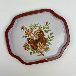 Vintage MCM Metal Butterfly Tray